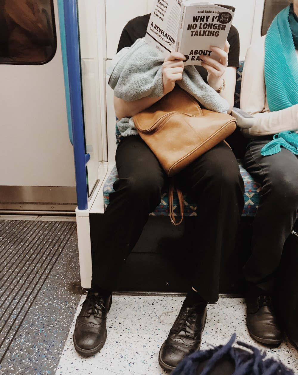 Taken on the tube, last week.