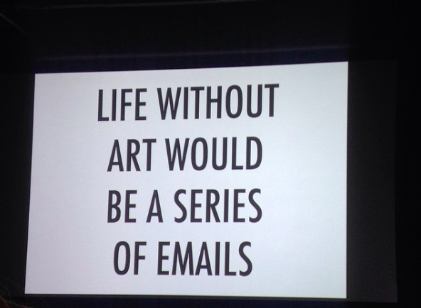 Photo: quote by Grayson Perry, photo by Amelia Ideh