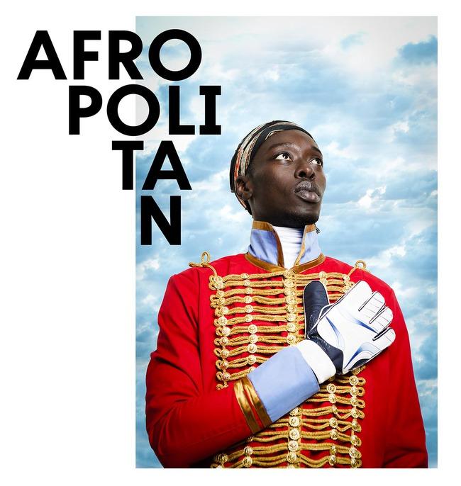 Image: Afropolitan Festival poster at Bozar Brussels, photo by Omar Victor Diop