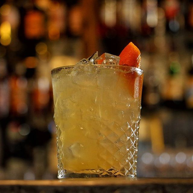 Upgrade your lunch plans with a classic cocktail @littlebirdbaltimore . Amaretto Sour : Amaretto, lemon, sugar