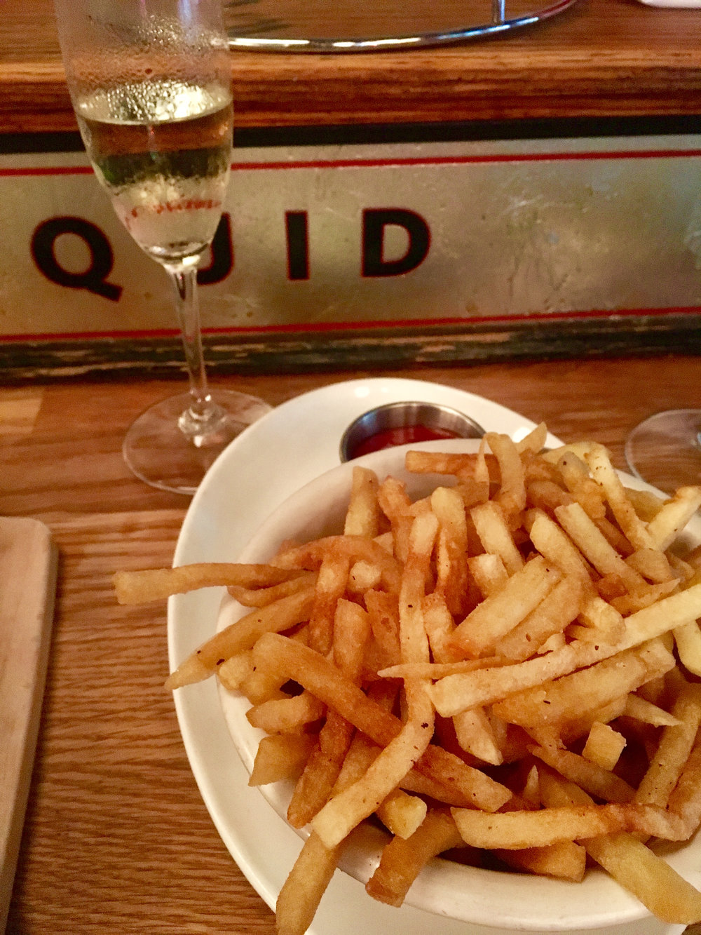 Domaine Saint Vincent Brut NV ~ Middle Rio Grande Valley, NM. And fries.
