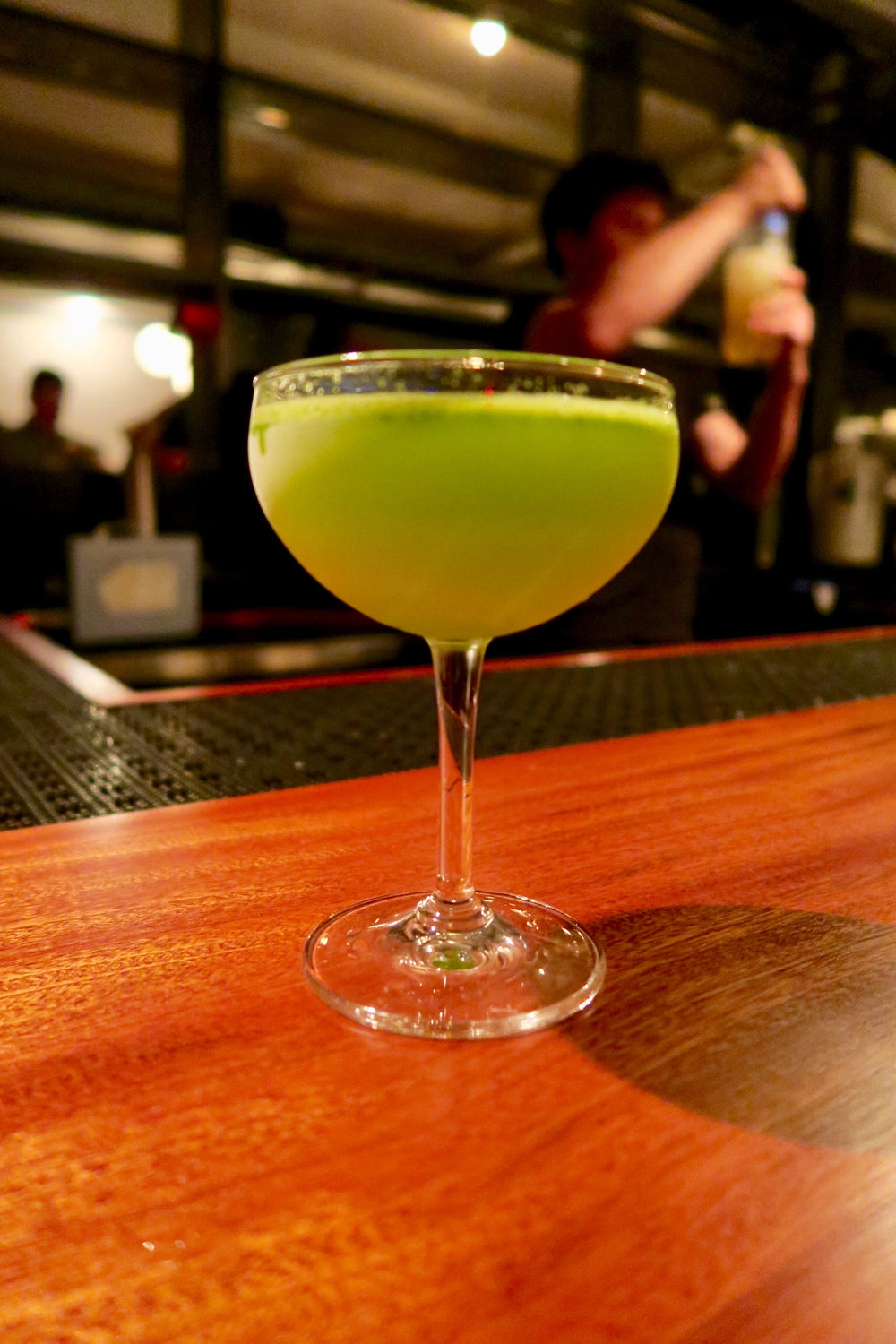 """OG Celery"" Gin, Celery, Parsley, Orange Syrup, Lime"
