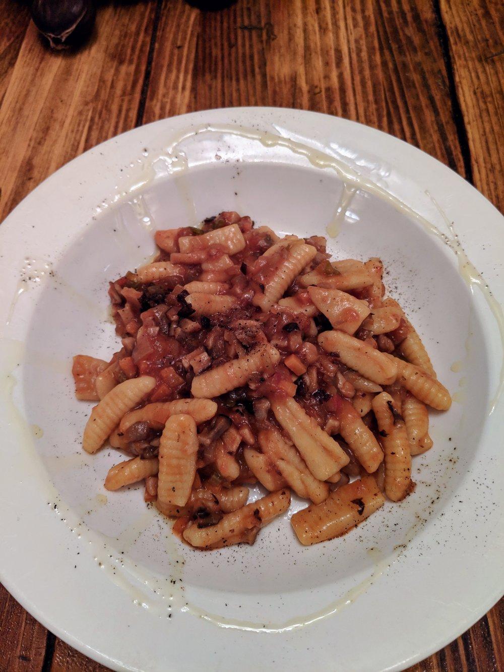 Fresh Pasta  With Mushroom Bolognese