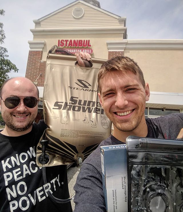 Mile: 727 (Day: 2) Big Thanks to Istanbul Grill in Avon, OH not only for serving delicious food, but also for letting us fill our shower bags using your sink! Can't wait to try these babies out ☀️🚿🔥😋 . . . @cabelas #helpandsaythanks #avon #cocreate #food #istanbul #turkish #grill #mediterraneanfood #cocreatex #create #adventure #roadtrip #startup #entrepreneur #goplaces #ccxbus #ontheroad #ohio #travel #makerbus #invent #inspire #projects #hygiene