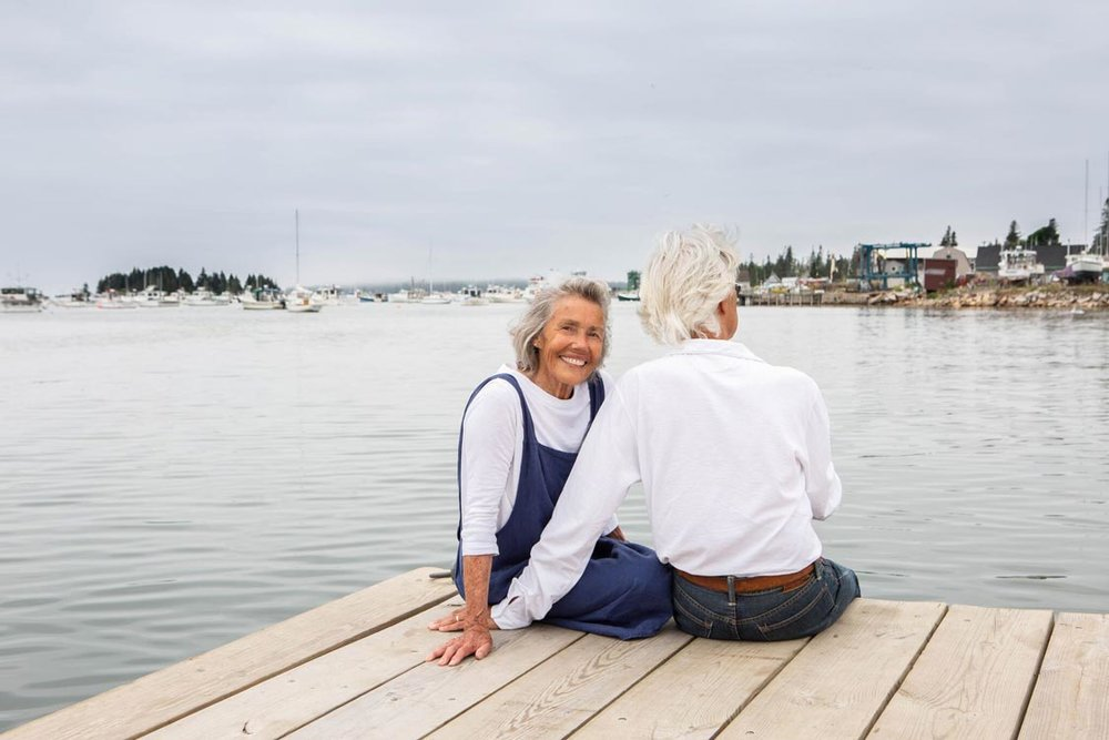 """AFTER DECADES ON THE MAINLAND, SHARON AND PAUL FOUND THEIR VINALHAVEN HIDEAWAY. """"WE WANTED TO SLOW OUR LIFE'S PACE."""" -"""