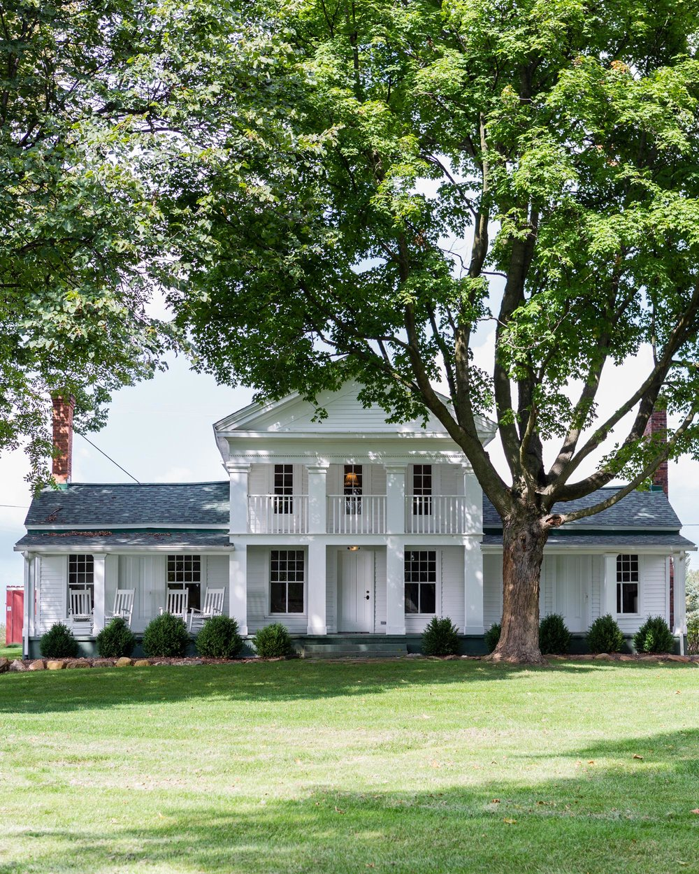 Cornman's farmhouse, home to the chef's kitchen.