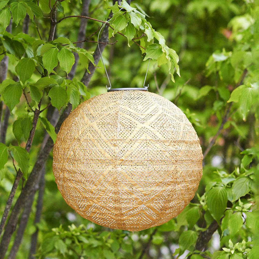 Geometric Lace Solar Lantern $38