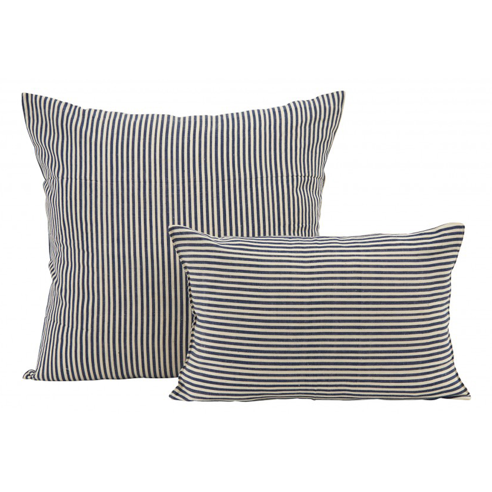 NAVY AND CREAM STRIPE PILLOWS starting at $98.00