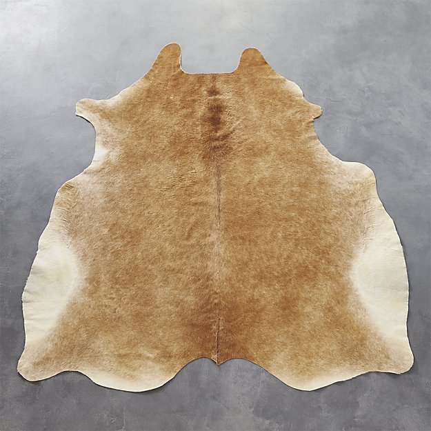 Cowhide Light Brown Rug 5'x8' $599