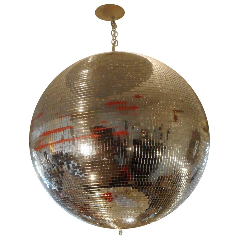 Huge Disco Mirrored Ball, Belgium, 1970 $1,766.92