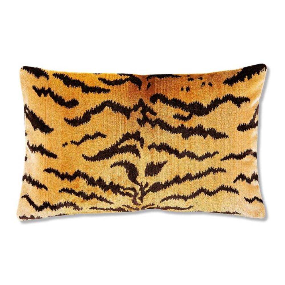 Scalamandre Tiger Lumbar Pillow Cover, Gold