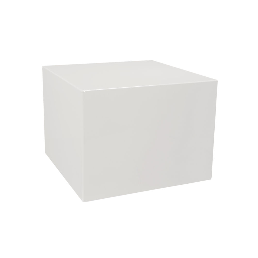 city slicker white side table $219