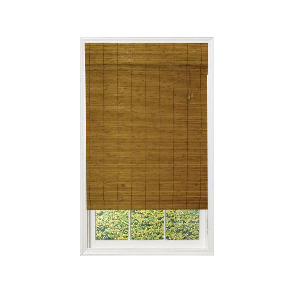 Caramel Simple Weave Flatstick Bamboo Roman Shade $26.43