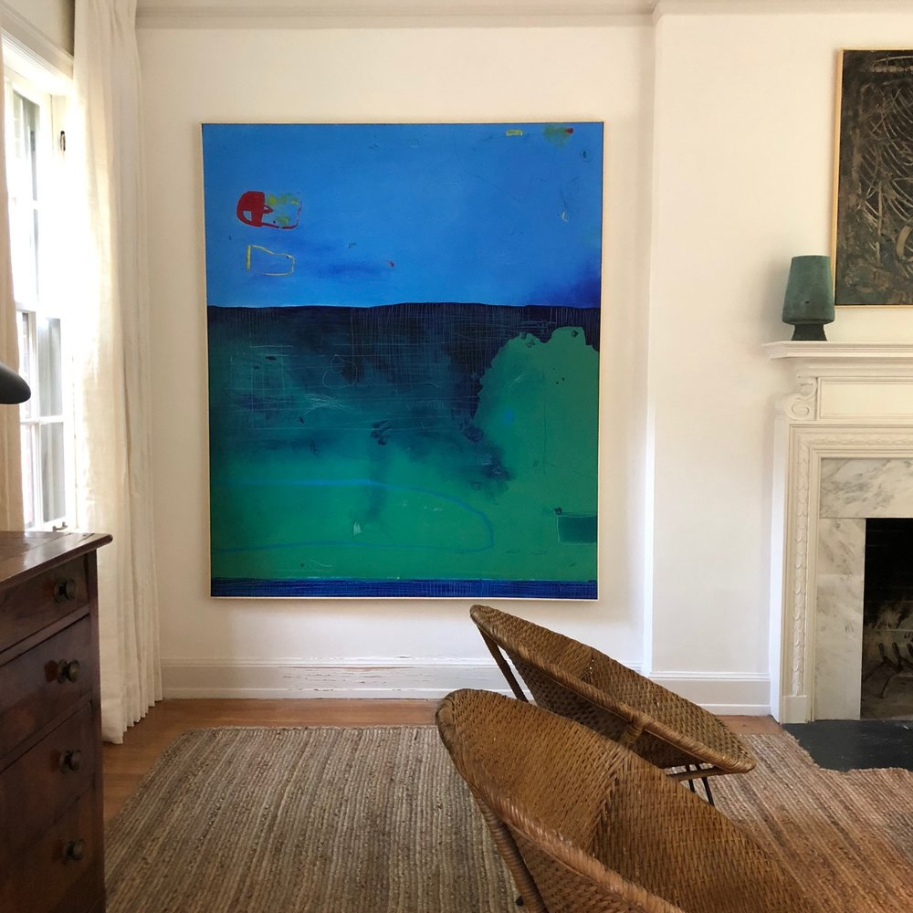 "72"" x 60"" abstract oil painting $5,880"
