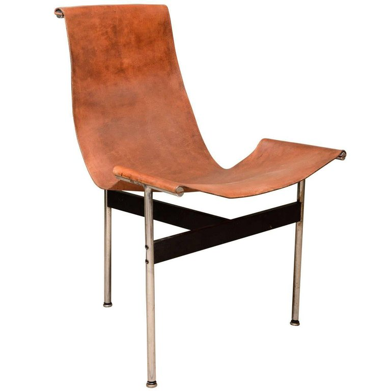 "Katavolos Leather Sling ""T"" Chair $1,900"