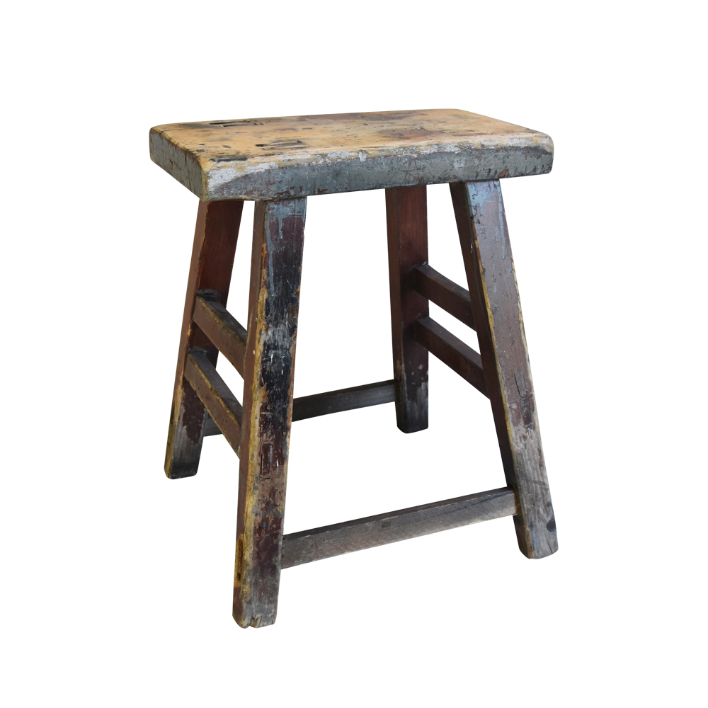 Rustic Primitive Country Wood Farmhouse Stool $225