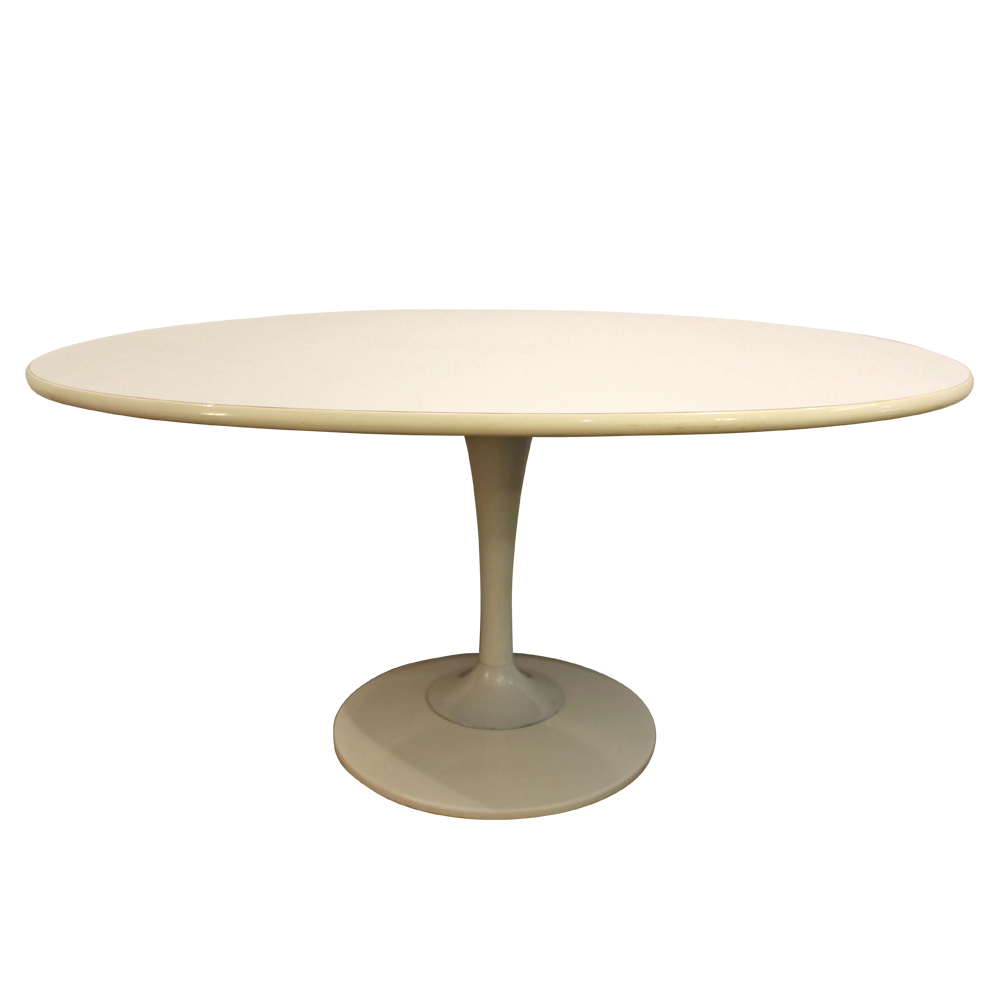 Chromcraft Danish Modern White Tulip Dining Table $695