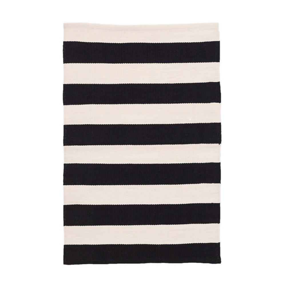 CATAMARAN STRIPE BLACK/IVORY INDOOR/OUTDOOR RUG from $48