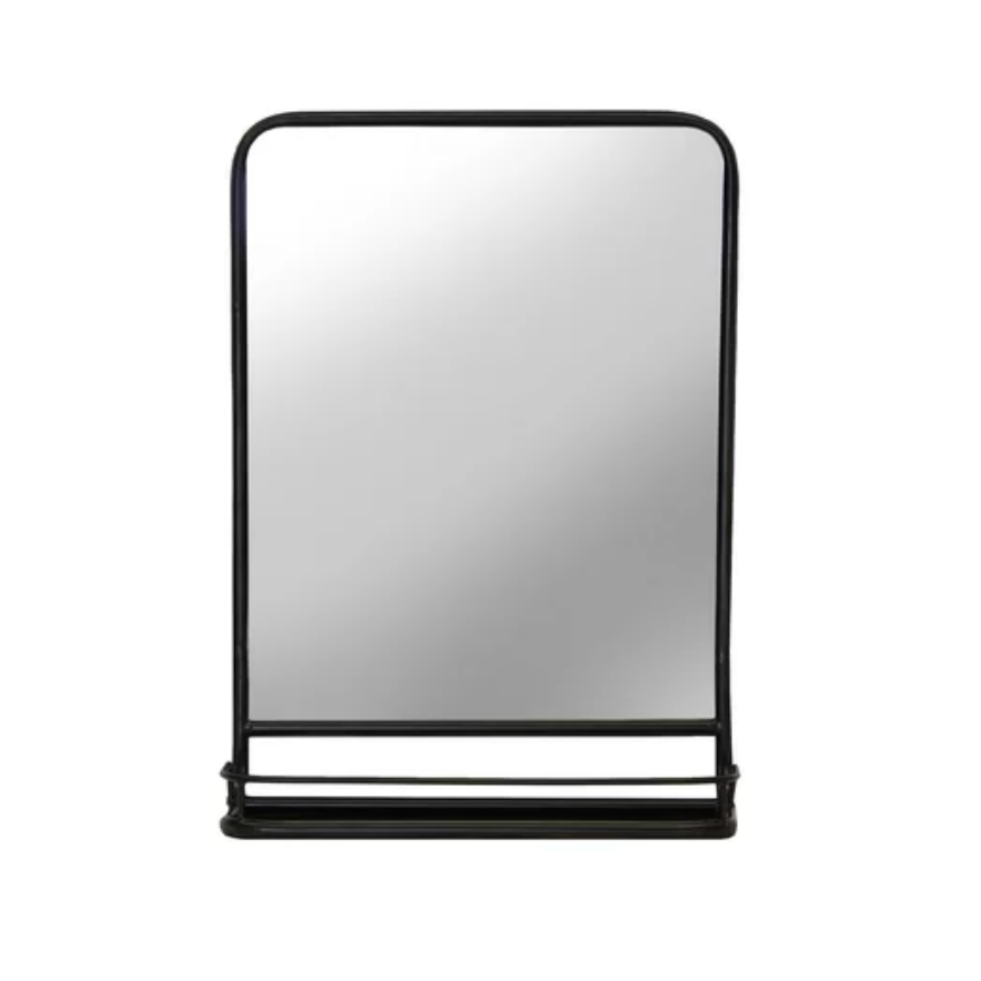 Cadbury Metal Accent Mirror with Shelf $149.99