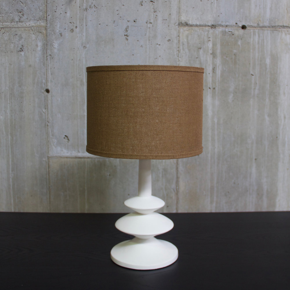 Small Giacometti Style Gesso Painted Lamp $700