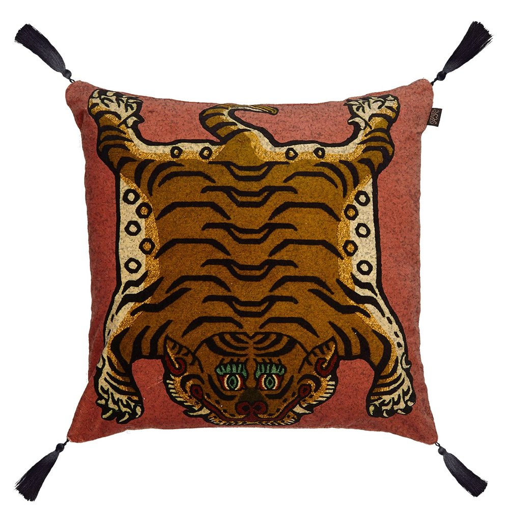 SABER Large Velvet Cushion - Pink £195.00