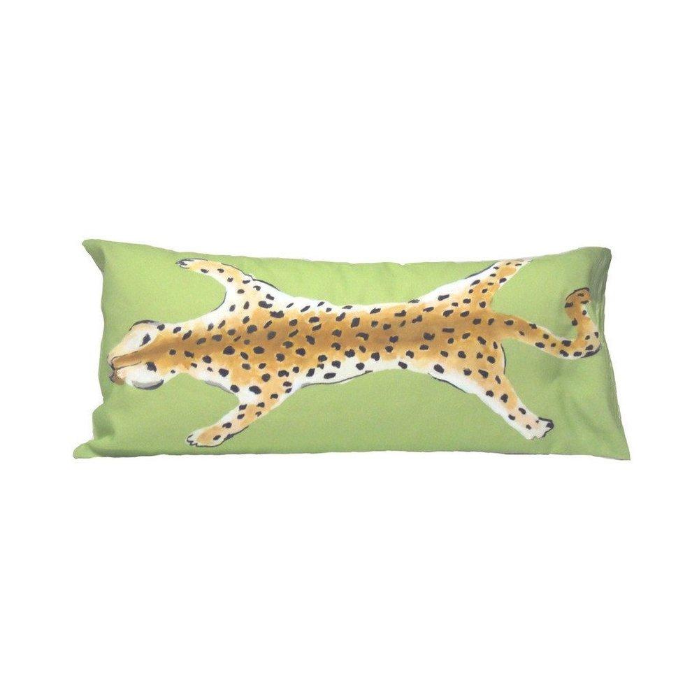 Leopard Lumbar in Green $185