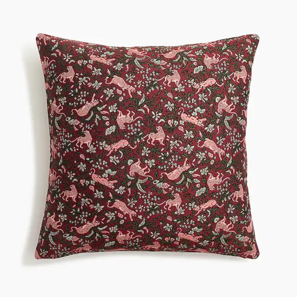 Compono jacquard pillow in jungle cat print
