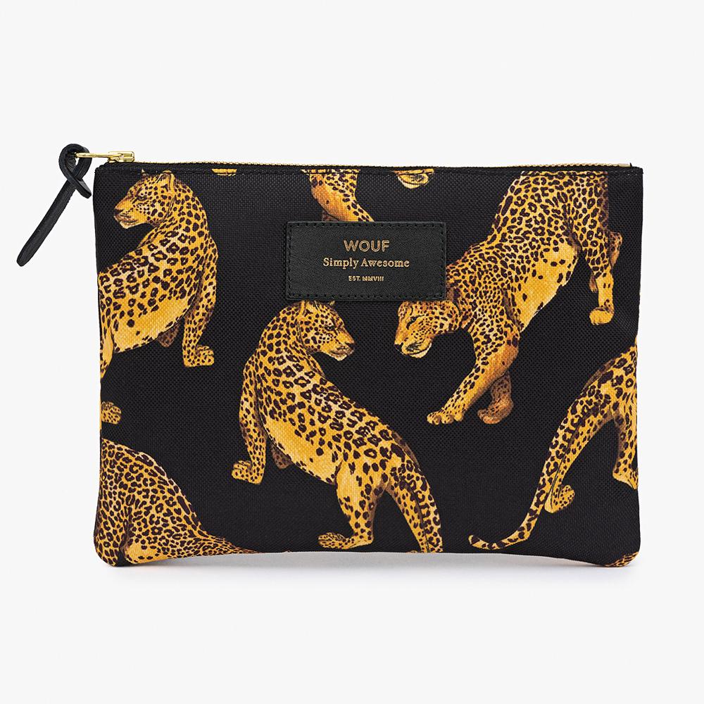 Black Leopard Large Pouch Bag 25,00€