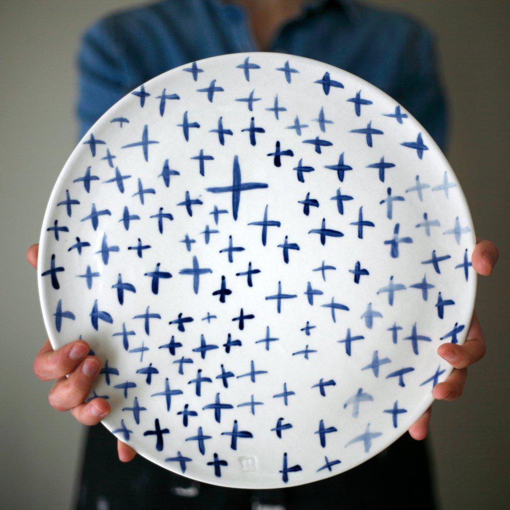 Large ceramic plate $95