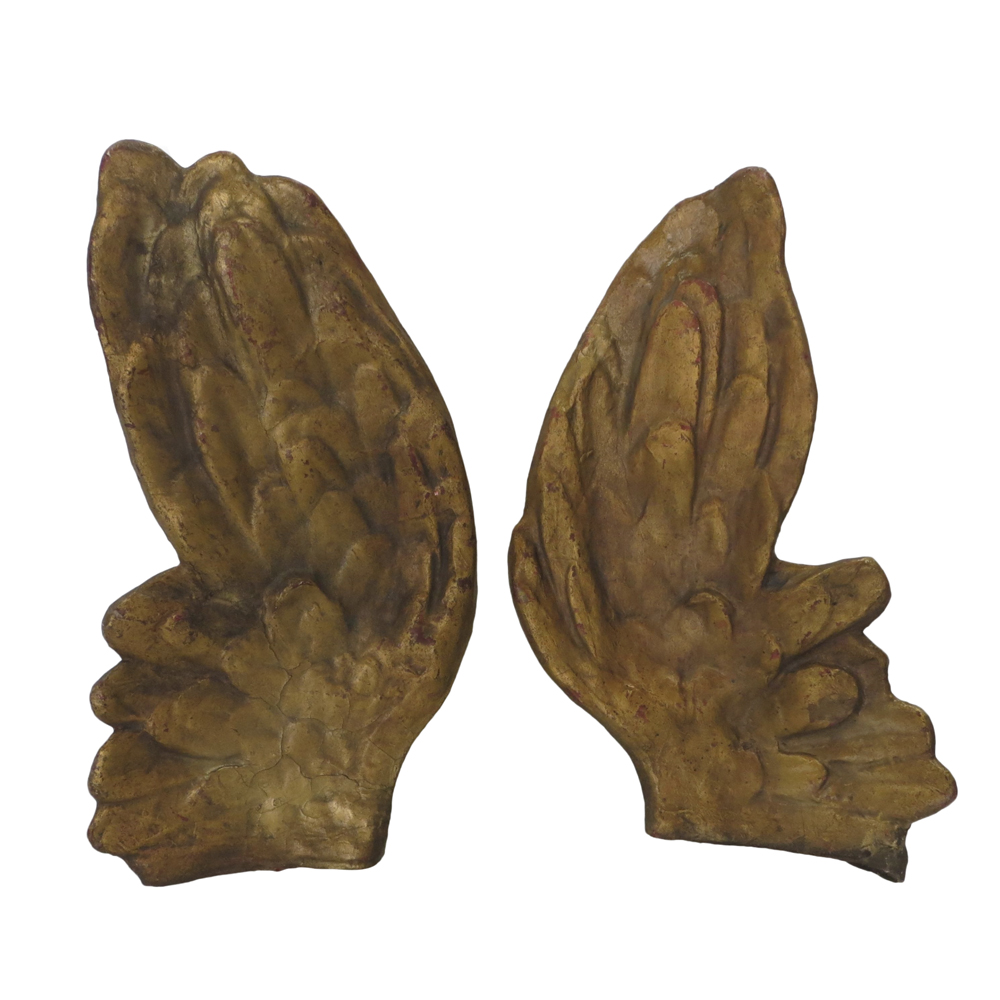 19th Century Large Angel Wings on Stands - Pair Price: $900