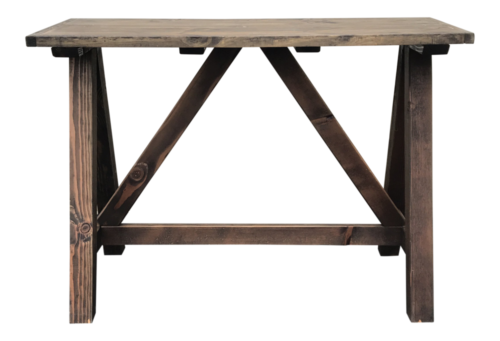 Rustic Wooden Rectangular Center Table Price: $600