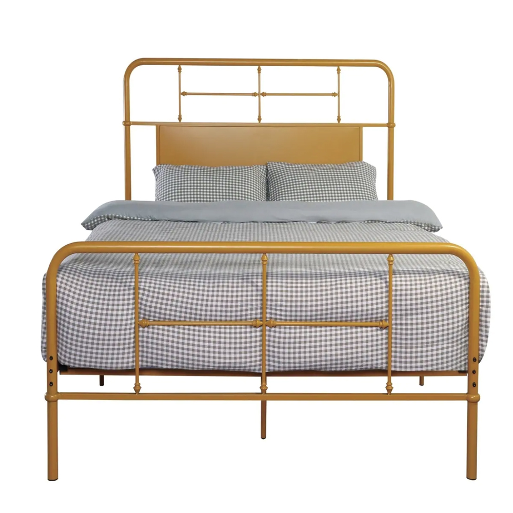 Emerald Home Fairfield butterscotch metal bed, from $235.49
