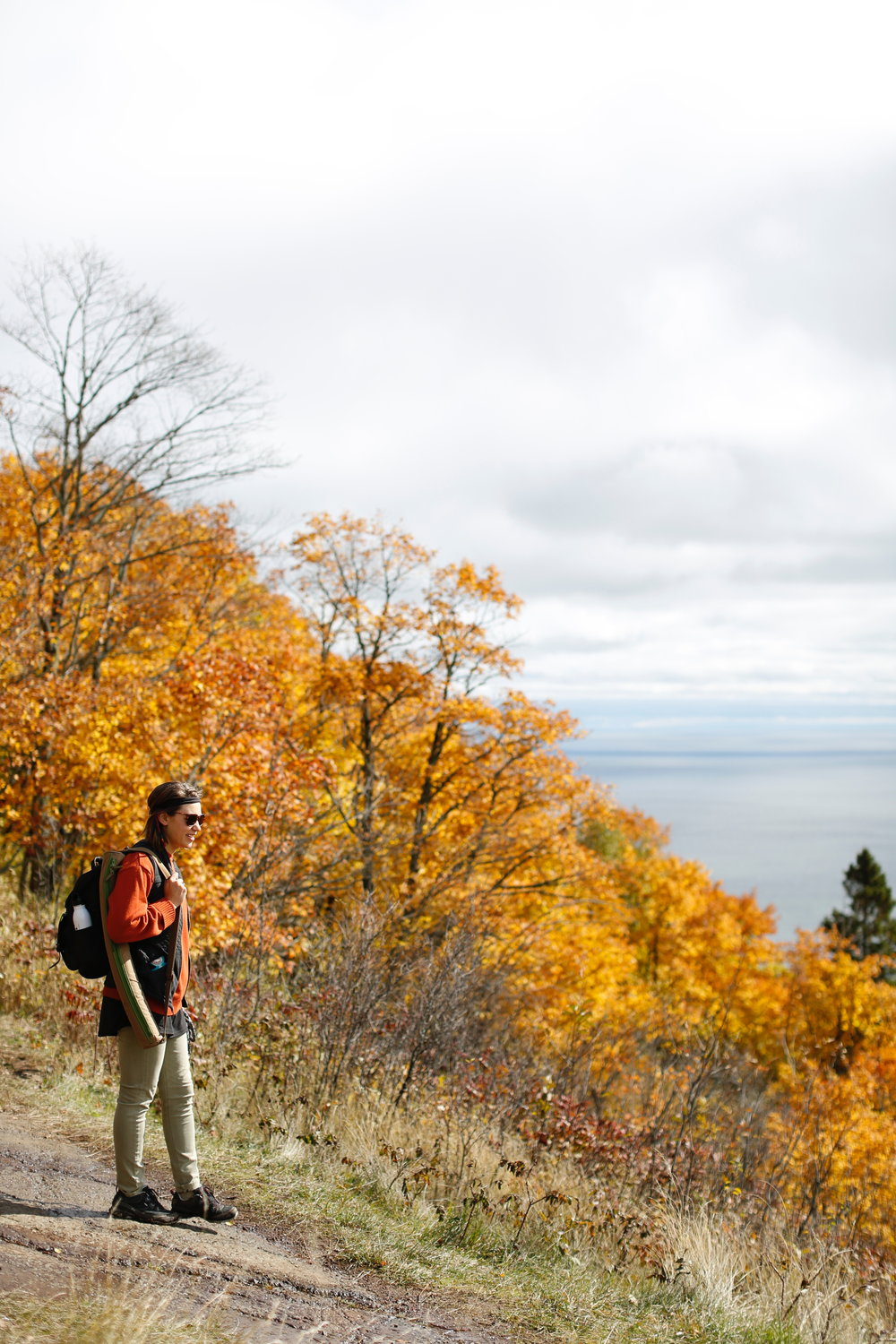 Thank you Erica Ticknor of Northbound Rogue for the beautiful picture!  This is a hike near Lutsen MN. It is so beautiful to see all of the leaves changing above lake superior this time of year!