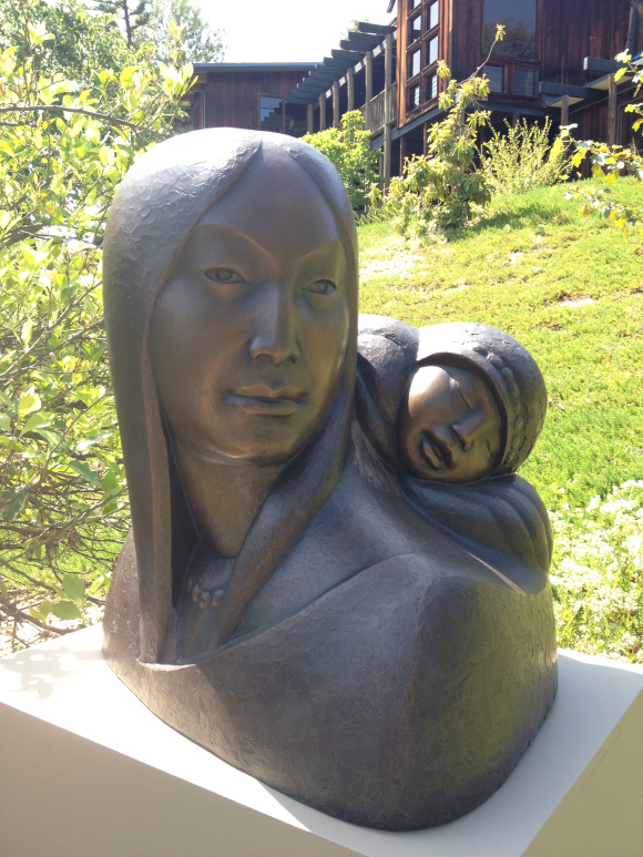 Sculpture at Sam Maloof's house, photo by Michelle Dowd