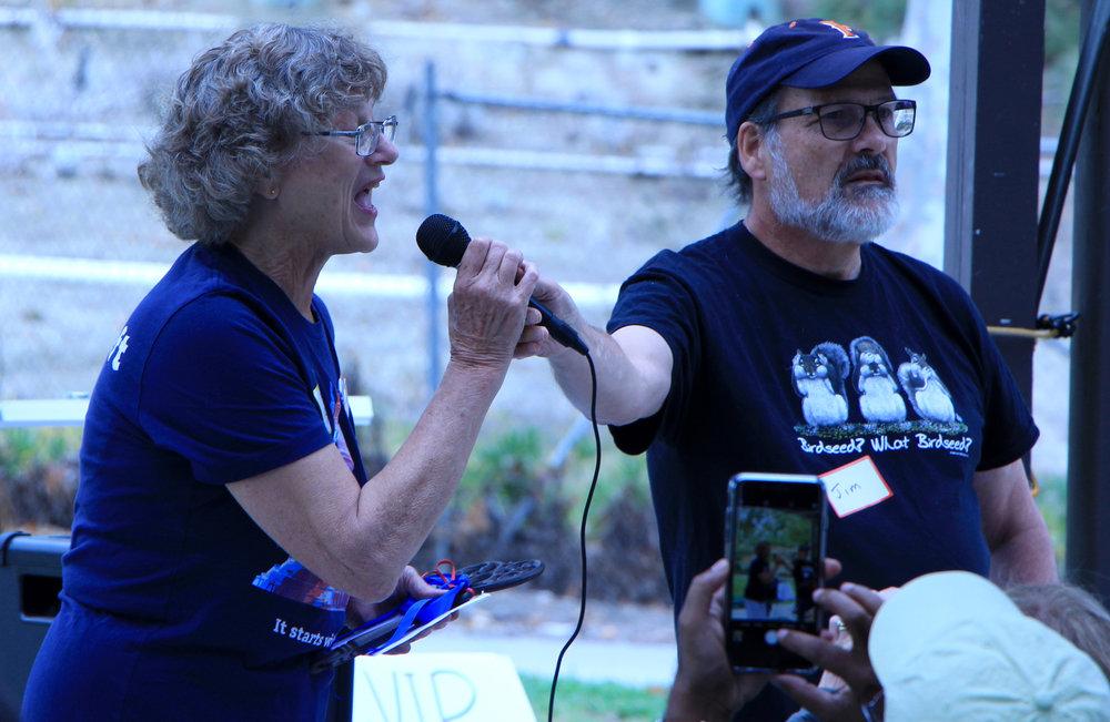 Jill Benton speaks a Congressional District 39 Unity Celebration on June 23, 2018; photo by Melissa Utsler