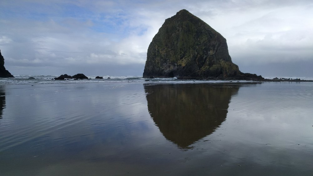 Haystack Rock, photo by John Norvell