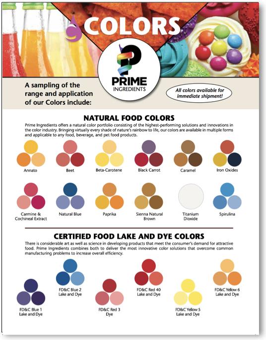 Colors Prime Ingredients