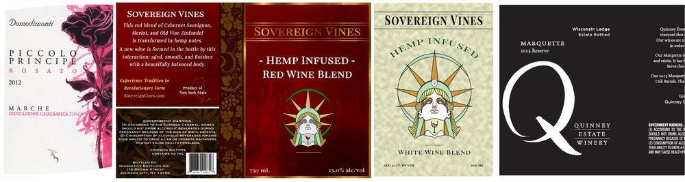 Wine Label Samples Derksen Co.