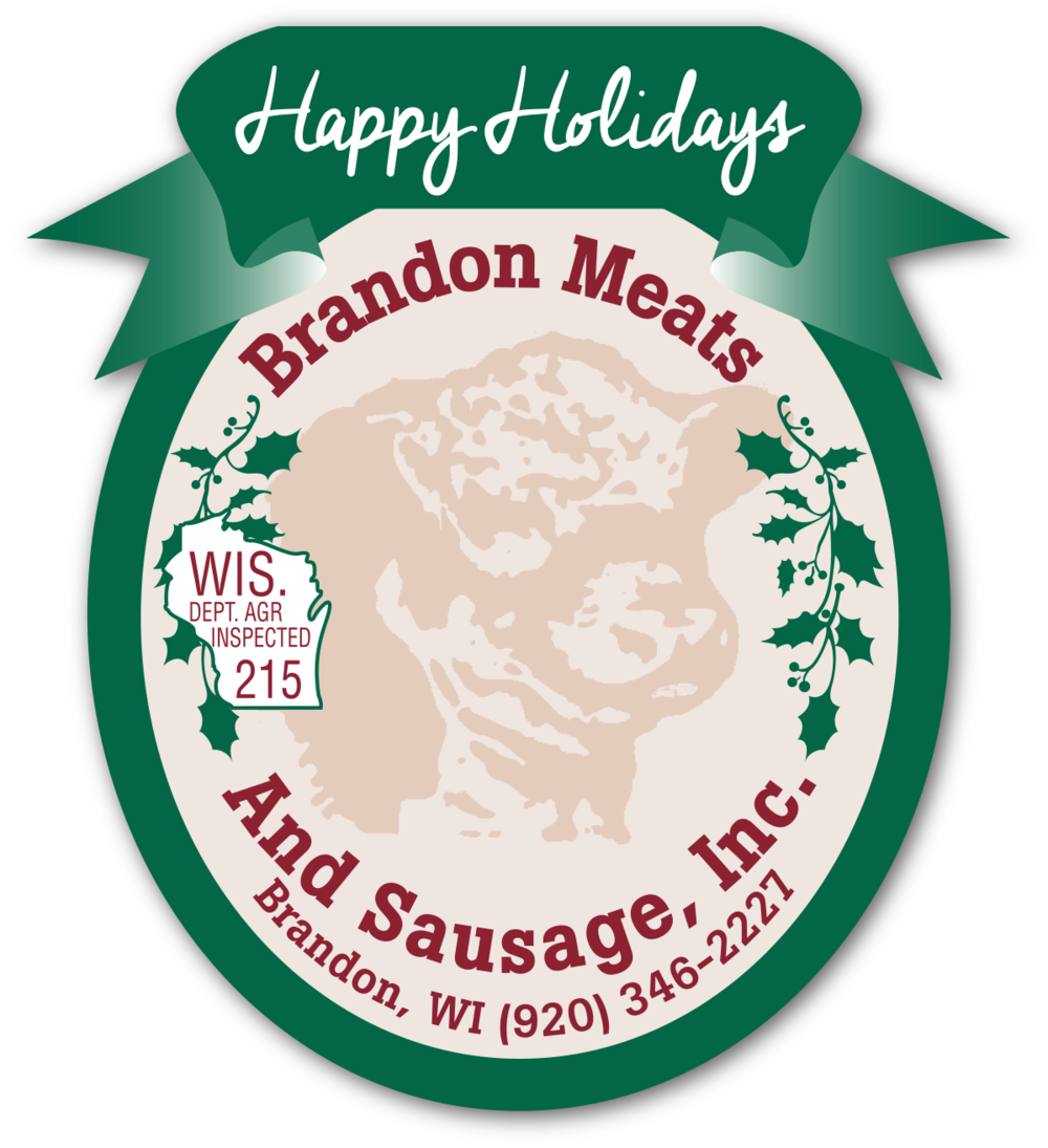 Brandon Meats Pre-Printed Label - This pre-printed label design makes branding easy by combining a standard layout on which customers can imprint variable data to suit their entire product line.
