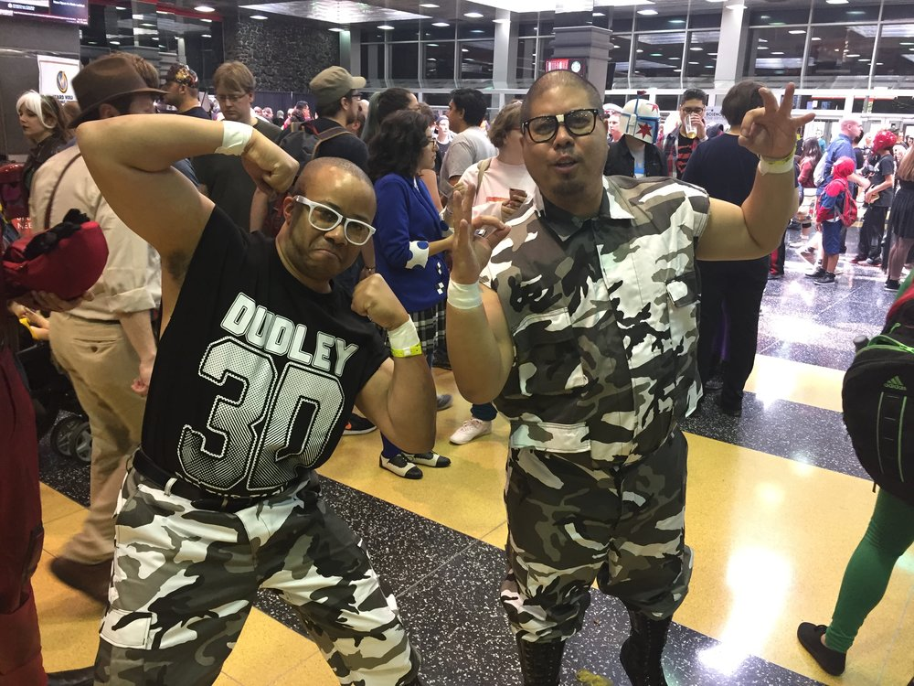 Dudley Boyz cosplayers at Wizard World Chicago in 2017.  (Photo by Mike Pankow)