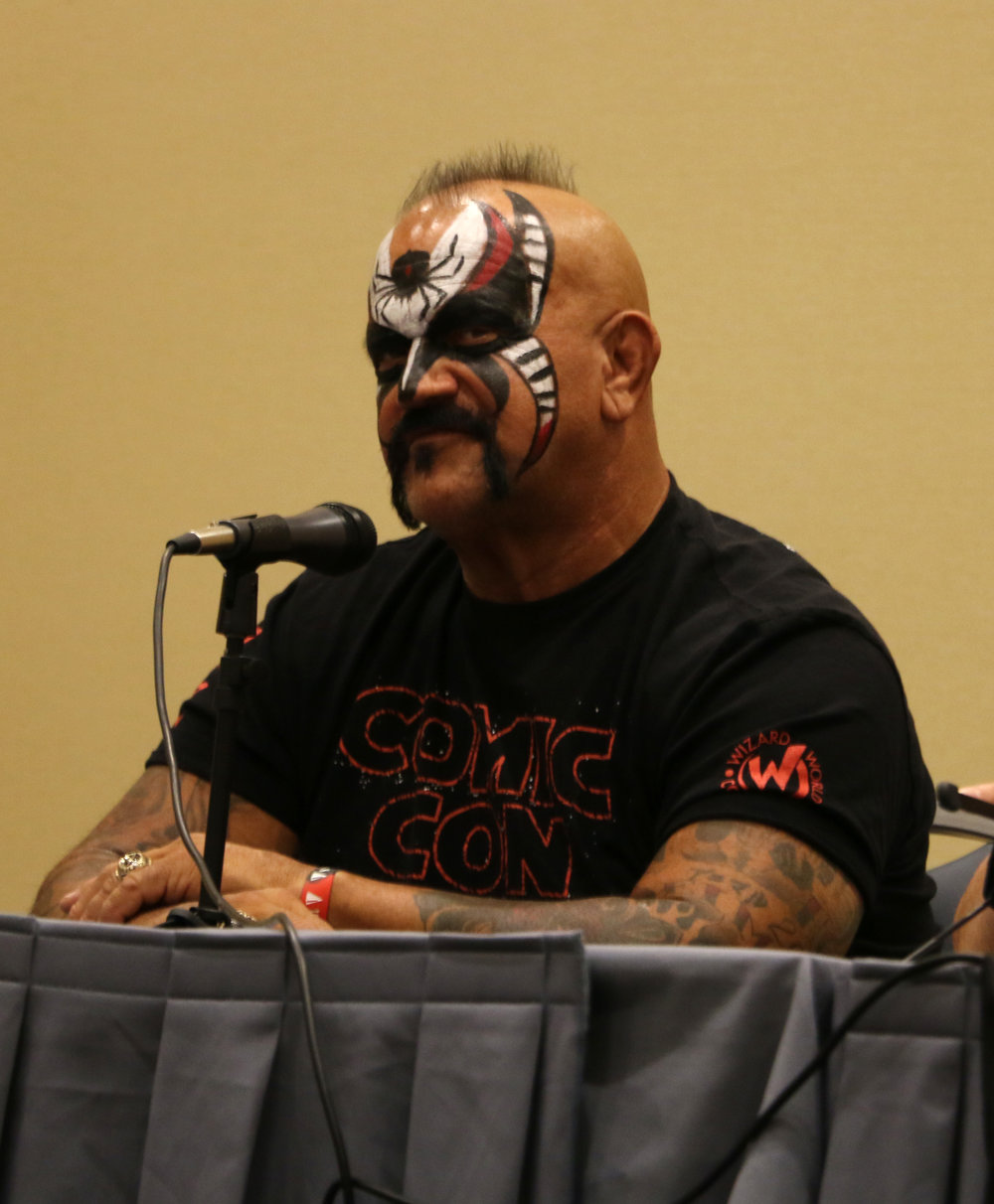 Road Warrior Animal was part of a wrestling Q&A panel along with Tommy Dreamer and Christian at Wizard World Chicago at Donald E. Stephens Convention Center in Rosemont, Ill. on Saturday, August 25, 2018.  (Photo by Mike Pankow)