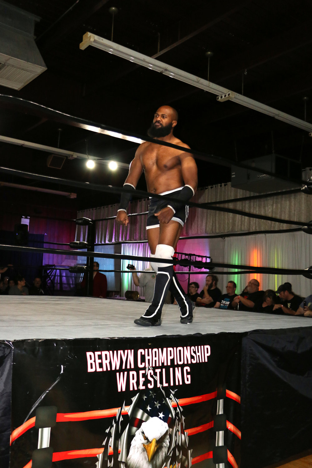 Bryce Benjamin was the first entrant in the Heavyweight Rumble for the Gold.