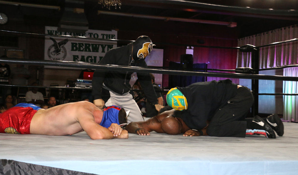 "Masked hooligans attack Egotistco Fantastico and ""The Shogun"" Chris L.O.G.A.N."