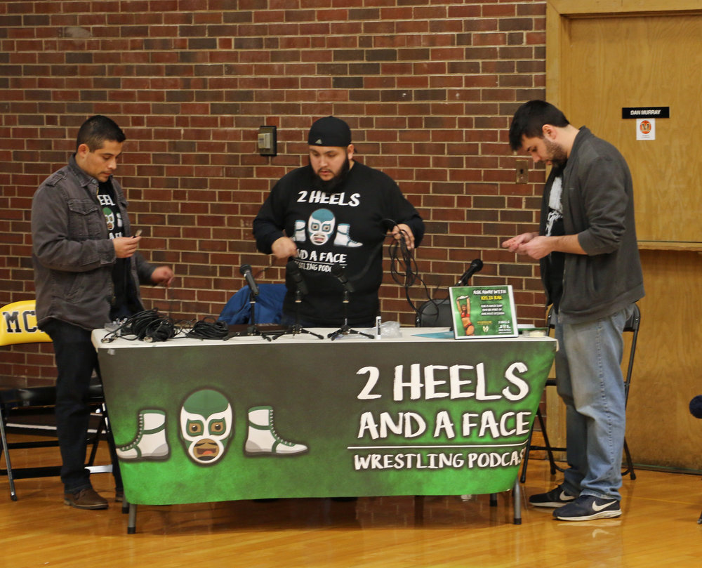 2 Heels and a Face podcast was on hand at the event.