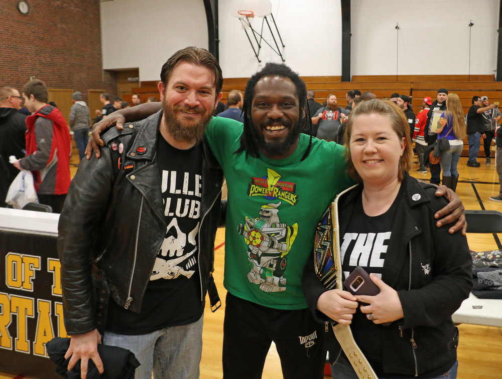 Rich Swann poses with fans at the VIP Fan Fest.