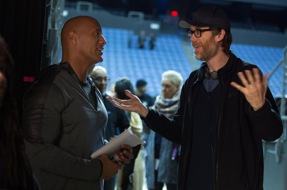 "Dwayne ""The Rock"" Johnson, left, and Stephen Merchant first met while filming ""Tooth Fairy"" in 2010. Johnson pitched the idea for ""Fighting with My Family"" after seeing a British documentary about Paige's family while filming ""Fast & Furious 6."" (Photo by Robert Viglasky/Metro Goldwyn Mayer Pictures © 2018 Metro-Goldwyn-Mayer Pictures Inc. All Rights Reserved.)"