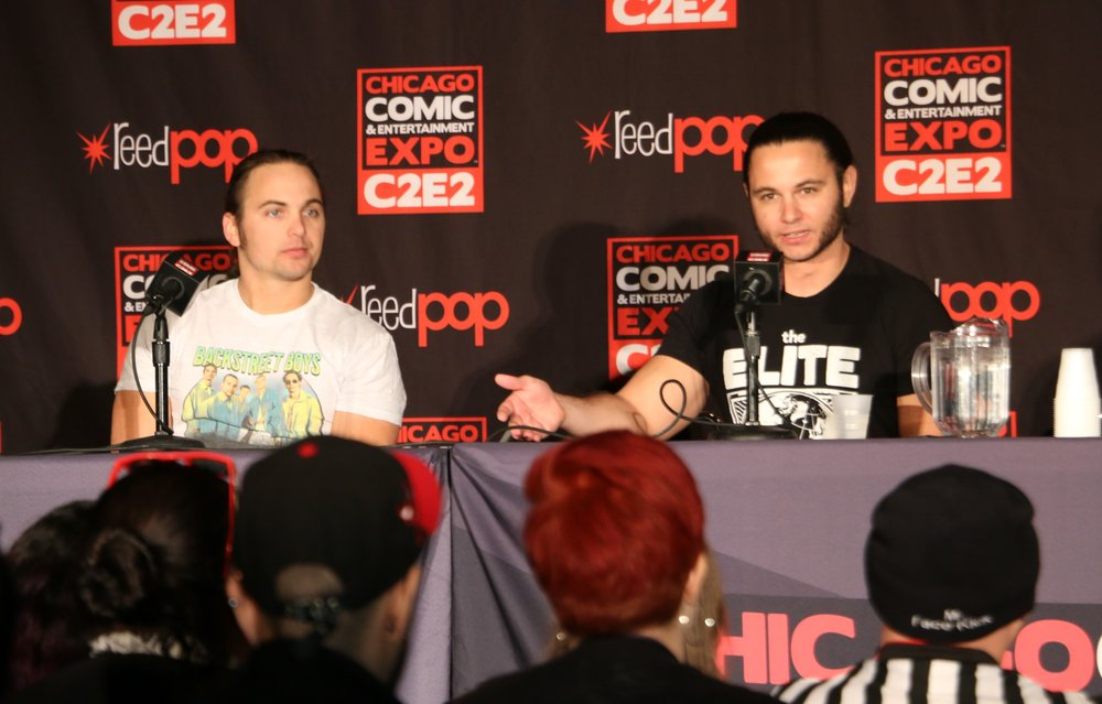 Nick Jackson, left, and Matt Jackson strongly hinted that a sequel to ALL IN will be coming to the Chicago area later this year. (Photo by Mike Pankow)