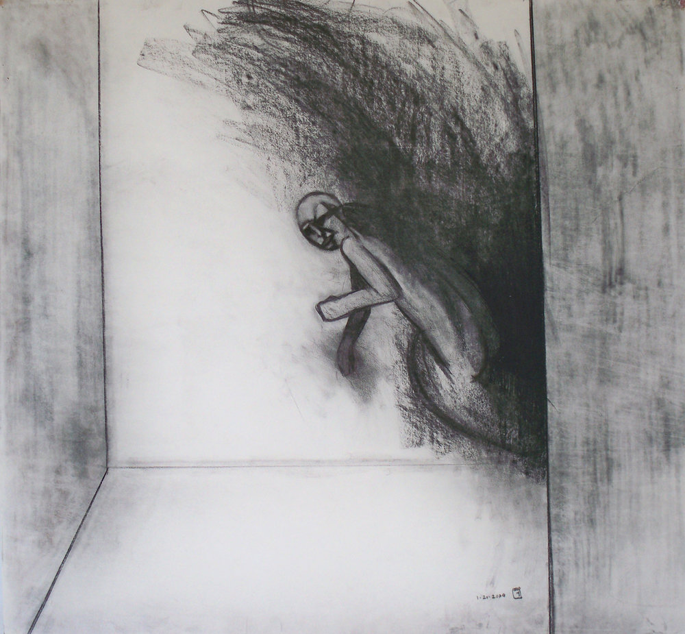 Man Falling into a Room