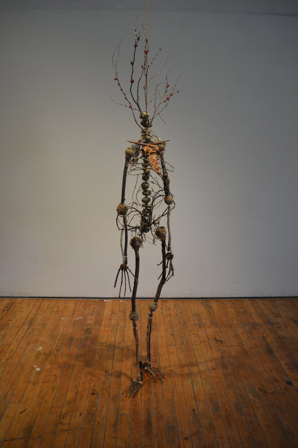 Growing Up Dead   Found natural materials  Life-size  2012