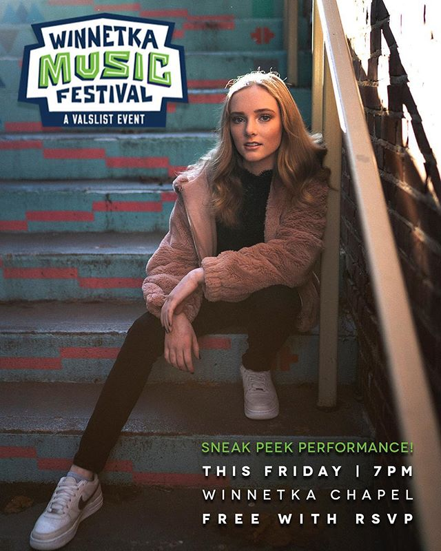 Chicago area friends! I'll be playing a sneak peek show for the @WinnetkaMusicFestival this Friday at 7 at the @WinnetkaChapel... RSVP to val@valslist.com and come for free! More info on the festival in bio. Hope to see you! 🤩